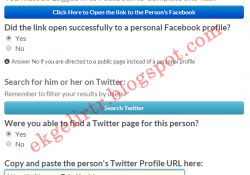 Find Twitter Profiles of Facebook Users Task Yapımı