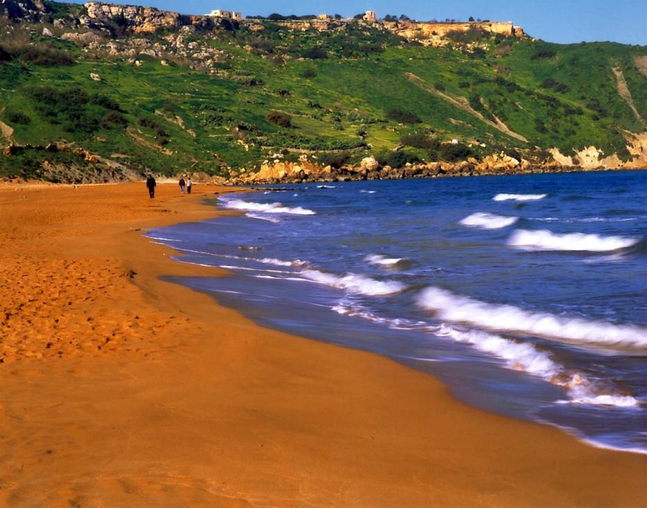 orange sand beaches