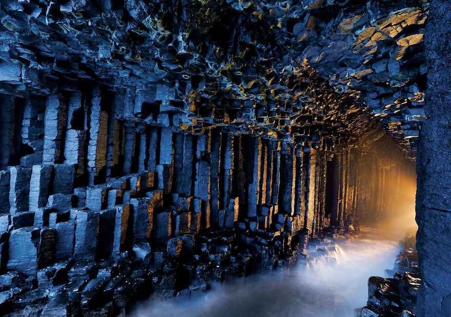 fingals mağarası iskoçya