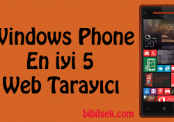 Windows Phone En iyi 5 Web Tarayıcı