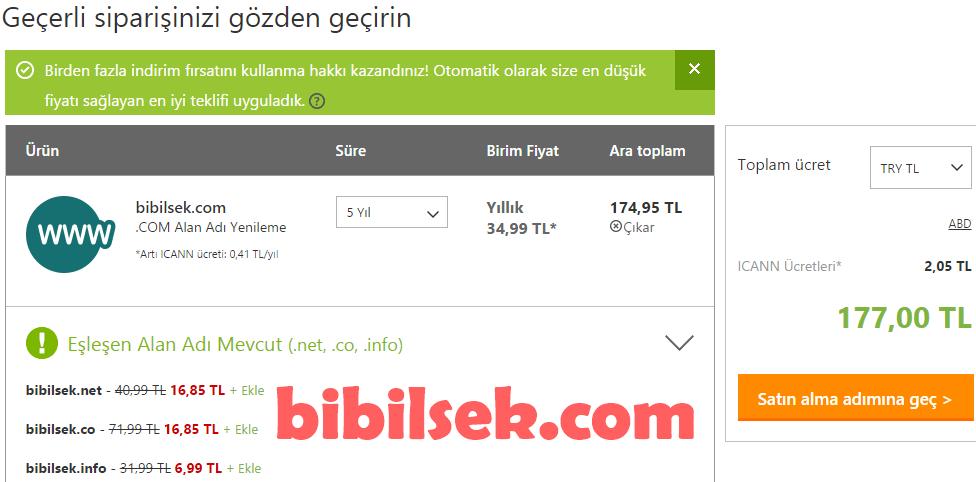 godaddy domain yenileme
